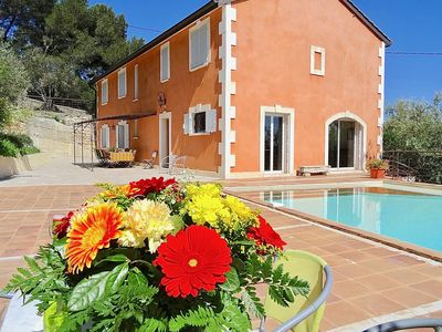 Photo for HOUSE 10 PEOPLE, PINEDE, OLIVE GROVE, BIG POOL, VIEW, near Avignon, Arles