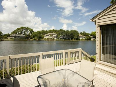 Photo for 2630 Calibogue Club | Gorgeous Lagoon Views | Onsite Tennis | Complex Pool | Private Deck