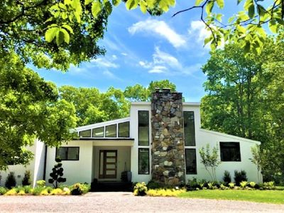 Photo for Just finished airy and bright, fresh and modern retreat in a serene setting