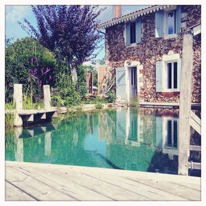 Photo for 1829 charming stone house tastefully restored - Natural swimming pool