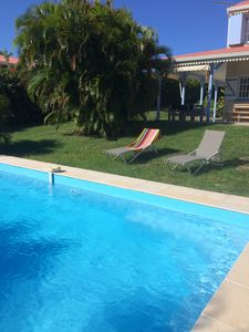 Photo for In Sainte Anne, villa for 6 with swimming pool near the beach of Bois Jolan