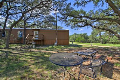 Gather under the oak trees with your group of 6.