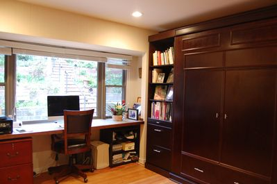 Guest room/ Office with Murphy bed up