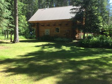 Log Home Near Glacier National Park 1 BR Vacation Cabin For Rent In Columbia Falls Montana