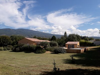 Photo for Bedoin new villa (100m town center) Mont Ventoux, private pool
