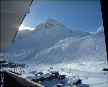 Balcony View - Grande Motte Funiculaire and Les Lanches Chairlift
