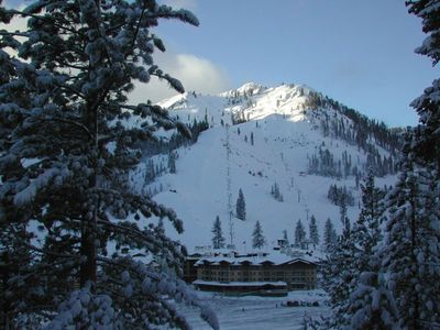 Squaw Valley awesome ski area view