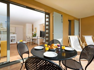 Photo for Beautiful apartment for 6 guests with WIFI, pool, TV and pets allowed