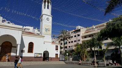 Church of Los Cristianos just a few steps away from the apartment