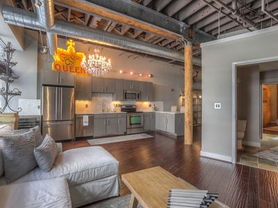 Photo for Walk to Honky Tonks! Downtown Nashville Loft 50-70% off M-W! Taylor, Sleeps 2 Nashville Vacation Rentals by MusicCityLoft on VRBO