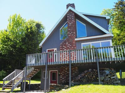 Photo for Quiet Hills of Andover Vermont. Enjoy a gorgeous view from the deck!