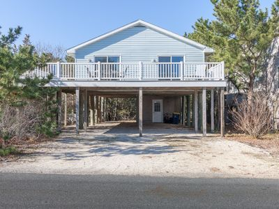 Photo for ONE HOUSE TO THE BEACH! LG 3BR, 2BA SINGLE FAMILY HOME SLEEPS 8 WALK TO TOWN!