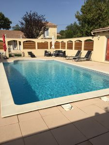 Photo for villa 8/9 people, heated swimming pool (9x5), Jacuzzy (7 places) games rooms.