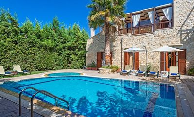 Photo for Luxury and Spacious Villa in Crete with Pool and Superb Views