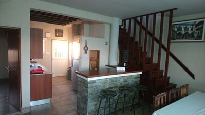 Photo for HOUSE THIRTY METERS FROM THE SEA, WITH LARGE BALCONY WITH SEA VIEW.