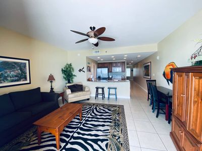 Kick back and relax in our open living area with balcony access!