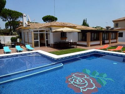 Photo for Large 5 Bed Villa, Private Pool incl Child Shallow Area, Free WiFi, Full Air Con