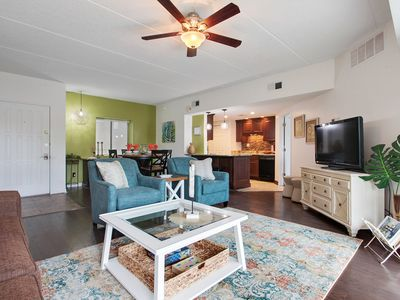 Photo for Forest Beach Villas 321 - Updated 2 bedroom Condo - Short Walk to the Beach