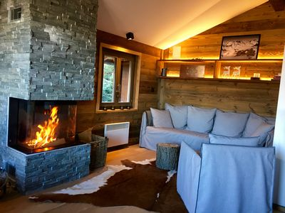 Photo for Ski in-ski chalet with sauna in the heart of the 4 Valleys - La Tzoumaz / Verbier