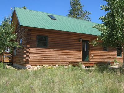 Photo for Remote Log Cabin Artist Retreat - comfort, serenity - spectacular views!!