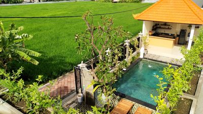 Photo for Comfortable Guesthouse with Outdoor Pool and Ricefield view