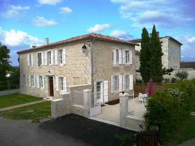 Photo for Rental Stone House Tournecoupe Gers Lomagne 7 people heated pool