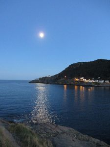 Moon shining over Fort Amherst (Photo courtesy of Kevin O'Leary)