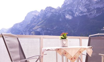 Photo for nice and bright app. at 5 min. walk from the center and the Riva Garda beaches
