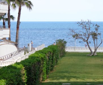 Photo for Beach apartment with sea view in residential complex with swimming pool