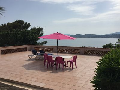 Photo for Apartment sea view and Saint Tropez, 100M from the beach, T2 for 4 people