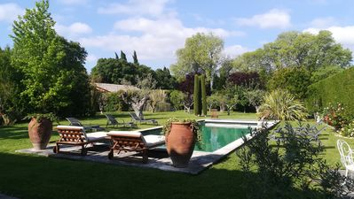 Photo for Beautiful 6 bedroom house and heated pool in Eygalières - in the countryside