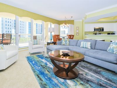 Photo for Cool green & blue beachfront end condo w/large balcony!