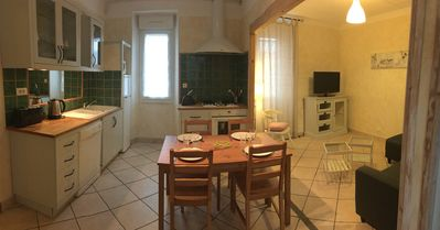 Photo for Fountain, house 70 m2, town center, in a renovated house with 4 flats