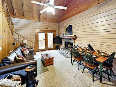 Photo for Secluded Ridgetop Retreat: 2 Cabins w/ Private Hot Tubs, Scenic Views & Decks