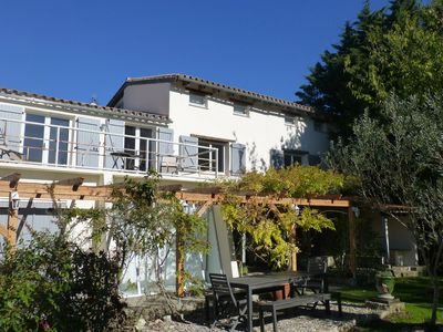 Photo for Secluded, recently renovated farmhouse, sleeps 14, private pool, with views
