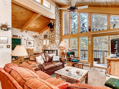Photo for 7th Night Free! Uniquely designed Moose Theme, Wi-Fi, River View, Gas Fireplace