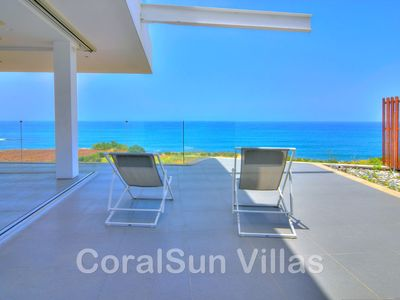 Photo for BEACH FRONT - Spectacular, Luxury Villa (sea only 40 m),Unspoiled-Tranquile Area