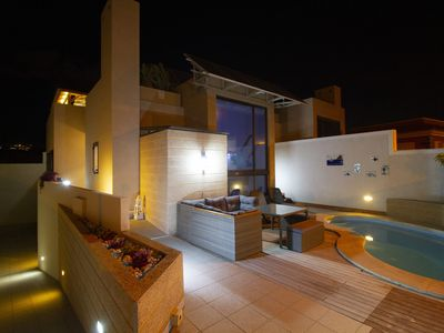 Photo for Luxury villa with private heated pool, roof terrace and Yacuzzi