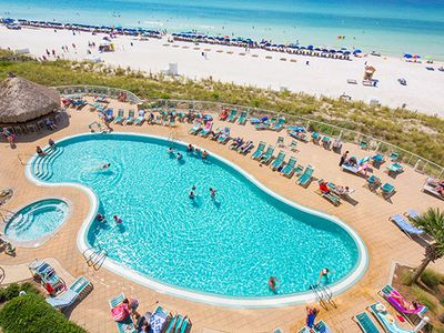 Photo for Amazing gulf front 1bd 1 ba unit on the 17th floor of Emerald Beach Resort!