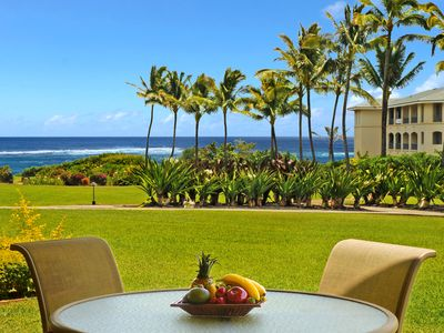 Photo for Poipu Sands #314 - Ground level - ocean views - close to Shipwrecks- HEATED pool