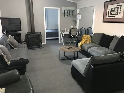 Family friendly 3 bedroom apt. pet friendly. Private setting