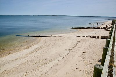 View of the beach! Guests have 100 feet of private beach to themselves.