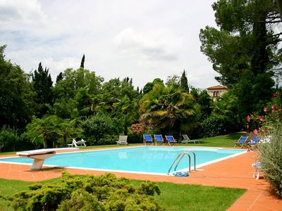 Photo for Villa Arconte A: A welcoming apartment that is part of a villa surrounded by the greenery, with Free WI-FI.