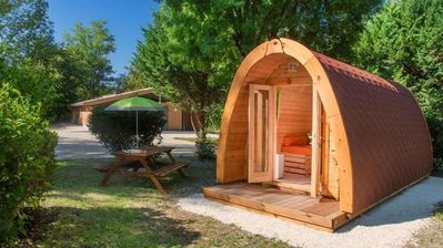 Photo for Camping le Beauvillage - Cabane