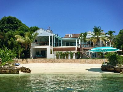 Photo for Kings View Villa, a stunning eight bedroom beachfront villa nestled on Harbour Island Bahamas.