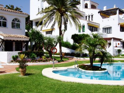 Photo for Luxury Family 3Bed 3Ba Ground Floor Apt walking distance to Puerto Banus beach