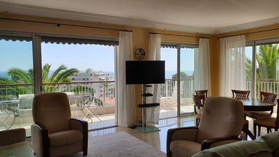 Photo for CANNES NEAR BEACHES 3 BEDROOMS SEA VIEW POOL