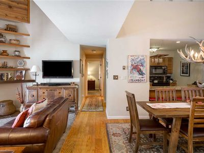 Photo for Beautifully Upgraded Split Level Steamboat Condo Great for Families And Groups!
