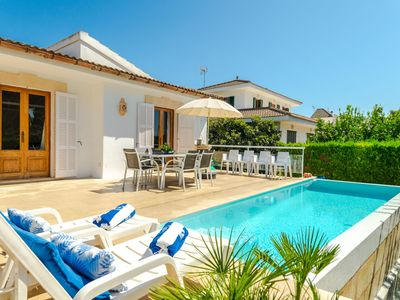 Photo for Wonderful private villa for 7 guests with private pool, A/C, WIFI, TV and balcony