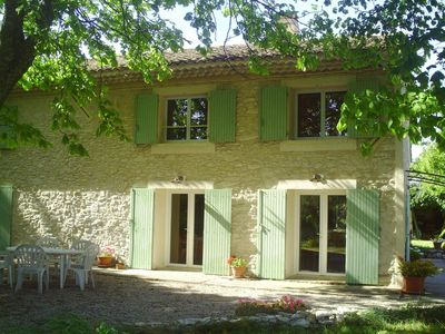 Photo for Provencal farmhouse renovated in the Aix countryside, with jacuzzi (spa)
